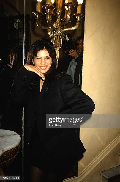 Maiwenn Le Besco attends a fashion week Party at Les Bains Douches in the 1990s in Paris France