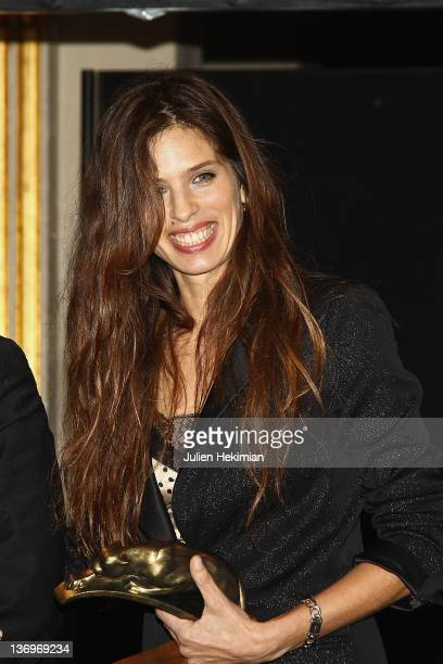 Maiwenn Le Besco is pictured after being awarded at the 17th 'Ceremonie Des Lumieres' at Hotel de Ville on January 13 2012 in Paris France