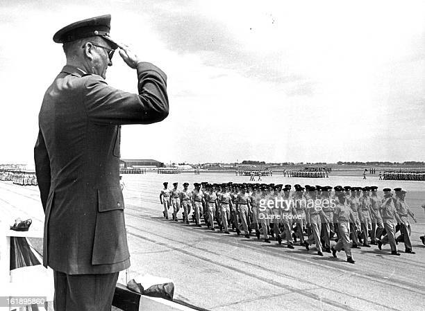 JUL 31 1967 AUG 1 1967 Maj Gen Charles H Anderson Returns Salute of Troops Passing in Review He's retiring as the commanding officer at Lowry Air...