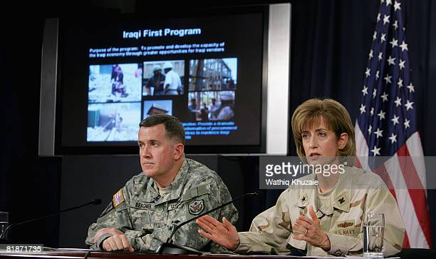 Maj Gen Kevin J Bergner Spokesman MultiNational Force Iraq and Rear Adm Kathleen M Dussault Commander Joint Contracting Command in Iraq /Afghanistan...