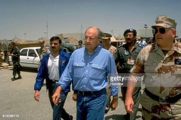 Maj General Donald L Kaufman chief US Military Training Mission to Saudi Arabia US Central Command accompanies Secretary of Defense Richard Cheney...