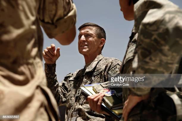 Maj General Michael T Flynn is director of intelligence in Afghanistan Photographs taken in July 2009