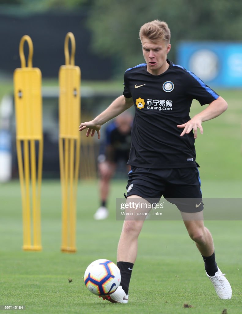 Maj Roric of FC Internazionale in action during the FC Internazionale training session at the club's training ground Suning Training Center in memory of Angelo Moratti on July 12, 2018 in Como, Italy.