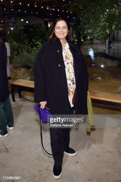 Maja Hoffmann attends Hauser Wirth Los Angeles Opening of Annie Leibovitz and Piero Manzoni and Musical Performance by Patti Smith at Hauser Wirth on...