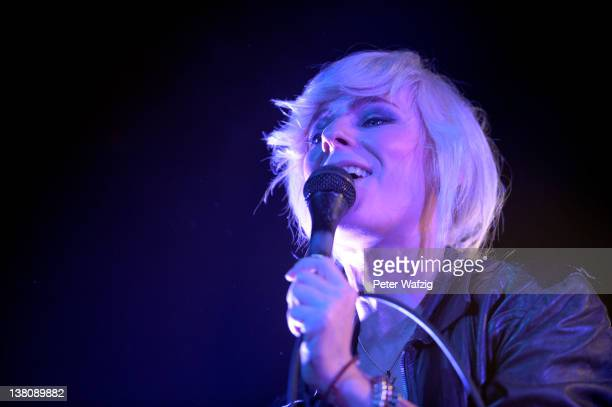 Maja Ivarsson of swedish IndieRockband 'The Sounds' performs on stage at the Live Music Hall on February 02 2012 in Cologne Germany