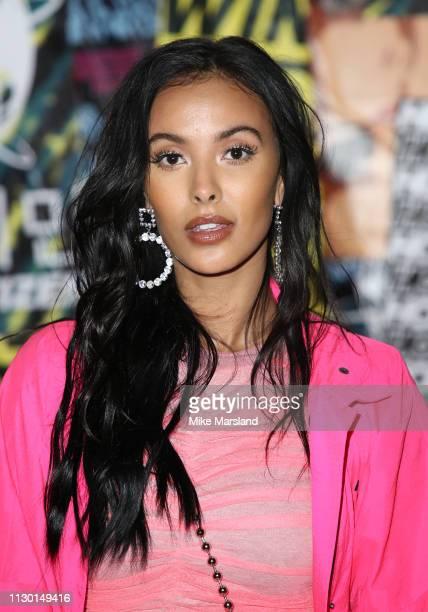 Maja Jama during London Fashion Week February 2019 on February 16 2019 in London England