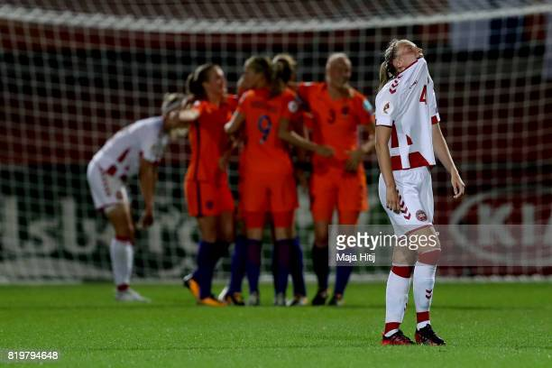 Maja Kildemoes of Norway looks dejected at the final whistle during the UEFA Women's Euro 2017 Group A match between Netherlands and Denmark at...