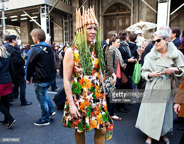 Maja Kluver participates for the 2012 Easter Parade during the annual New York City Easter parade on Manhattan's Fifth Avenue on Sunday, April 8,...