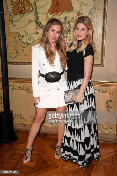 Maja Malnar and Hofit Golan attend the Pomellato after party for the new campaign launch with Chiara Ferragni as part of Paris Fashion Week during...