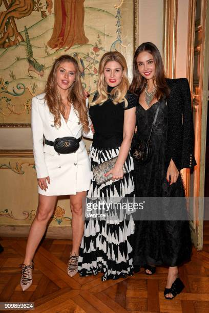 Maja Malnar Hofit Golan and Patricia Contreras attend the Pomellato after party for the new campaign launch with Chiara Ferragni as part of Paris...