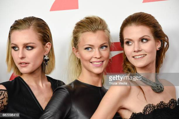Maja Manczak Serlina Hohmann and Lynn Petertonkoker GNTM Top 8 finalists attend the premiere of the television show 'This Is Us Das ist Leben' at Zoo...