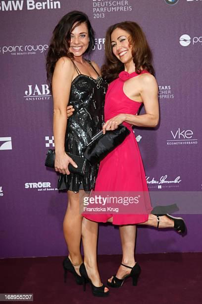 Maja Maneiro and Anastasia Zampounidis attend the Duftstars Awards 2013 at the Tempodrom on May 17 2013 in Berlin Germany