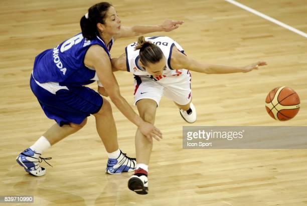 Maja MILIJKOVIC / Celine DUMERC France / Serbie Championnat d'Europe de Basket Feminin 2007