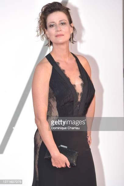 "Maja Ostaszewska walks the red carpet ahead of the movie ""Sniegu Juz Nigdy Nie Bedzie"" at the 77th Venice Film Festival on September 07, 2020 in..."