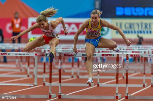 Maja RogemyrSweden during 60m Hurdles for women at European athletics indoor championships in Belgrade on March 3 2017