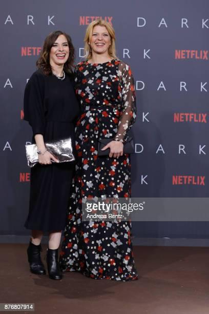 Maja Schoene and Joerdis Triebel attend the premiere of the first German Netflix series 'Dark' at Zoo Palast on November 20 2017 in Berlin Germany