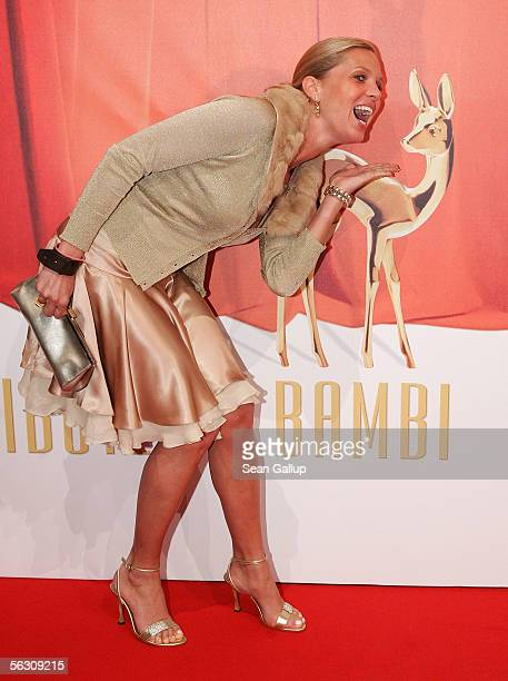 Maja Synke Princess of Hohenzollern arrives for the Tribute to Bambi Charity Gala at the Postkantine on November 30 2005 in Munich Germany