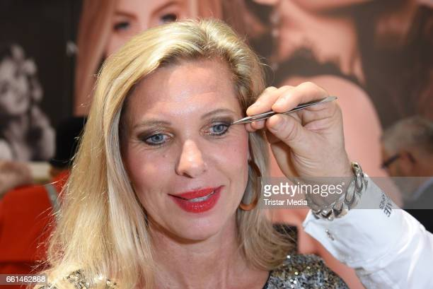 Maja von Hohenzollern gets new lashes by Neyes Beauty Xtreme Lashes at the Beauty Top Hair Fair on March 31 2017 in Duesseldorf Germany