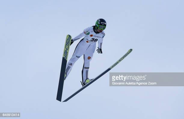 Maja Vtic of Slovenia competes during the FIS Nordic World Ski Championships Women's Ski Jumping HS100 on February 24 2017 in Lahti Finland