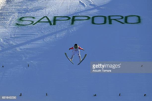 Maja Vtic of Slovenia competes in the Normal hill Individual during the FIS Women's Ski Jumping World Cup Sapporo at the Miyanomori Ski jump stadium...