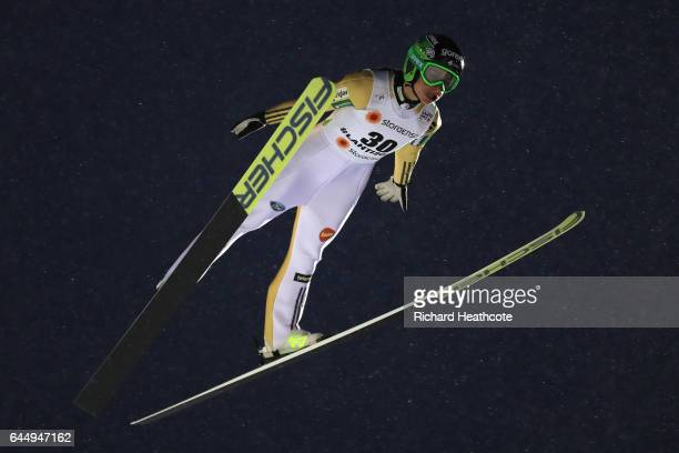 Maja Vtic of Slovenia competes in the Women's Ski Jumping HS100 during the FIS Nordic World Ski Championships on February 24 2017 in Lahti Finland