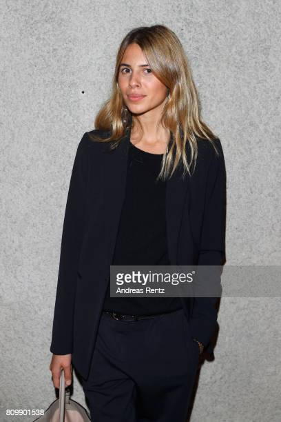 Maja Wyh arrives to the Hugo Boss presentation during 'Der Berliner Mode Salon' Spring/Summer 2018 at St Agnes Church on July 6 2017 in Berlin Germany
