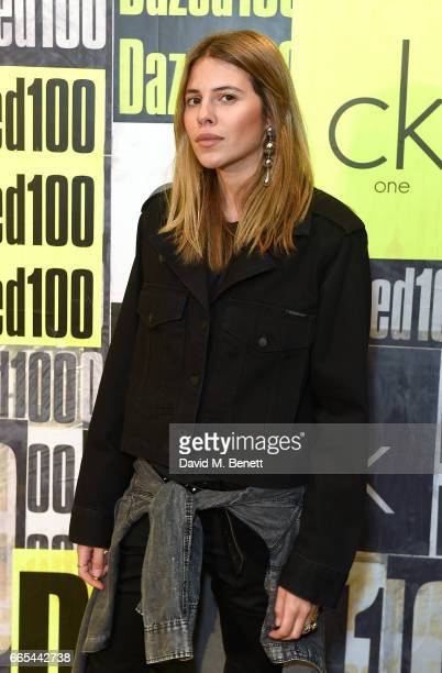 Maja Wyh attends as Dazed ck one celebrate the launch of The Dazed100 on April 6 2017 in London England