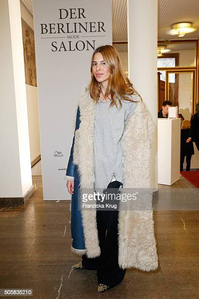 Maja Wyh attends 'Der Berliner Mode Salon' Group Presentation during the MercedesBenz Fashion Week Berlin Autumn/Winter 2016 at Kronprinzenpalais on...