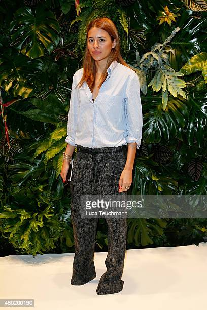 Maja Wyh attends the Dorothee Schumacher show during the MercedesBenz Fashion Week Berlin Spring/Summer 2016 at Stage at me Collectors Room on July...