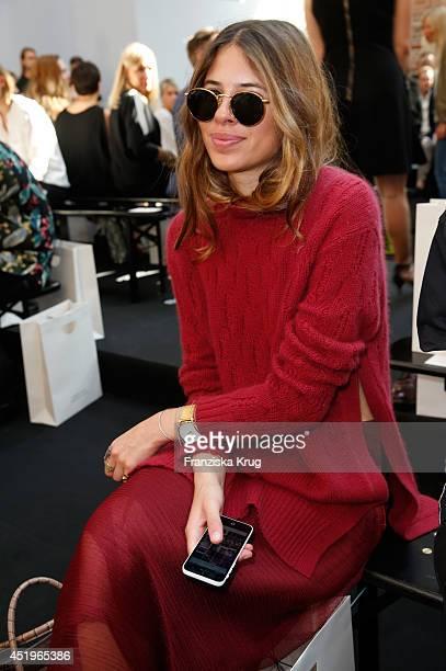 Maja Wyh attends the Schumacher show during the MercedesBenz Fashion Week Spring/Summer 2015 at Sankt Elisabeth Kirche on July 10 2014 in Berlin...
