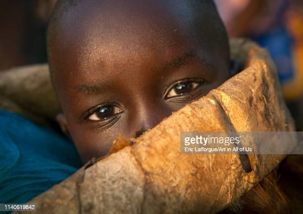 Majang tribe baby Kobown Ethiopia on December 22 2013 in Kobown Ethiopia
