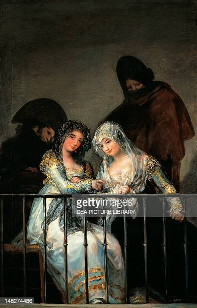 Majas on a balcony painting attributed to Francisco de Goya oil on canvas 194x125 cm New York The Metropolitan Museum Of Art