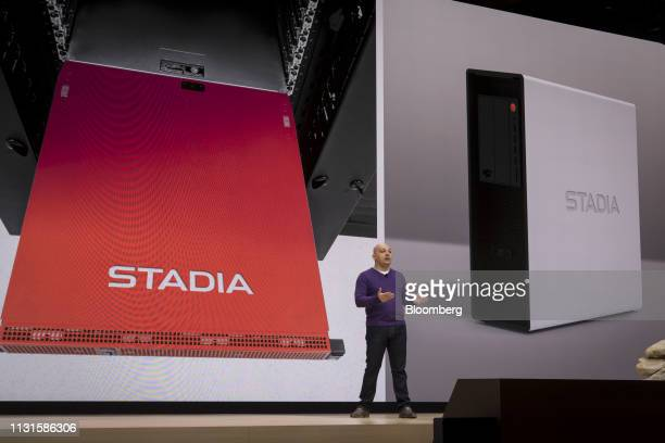 Majd Bakar vice president of Project Stream at Google LLC speaks during an event at the Game Developers Conference in San Francisco California US on...