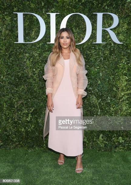 Majda Sakho attends 'Christian Dior couturier du reve' Exhibition Launch celebrating 70 years of creation at Musee Des Arts Decoratifs on July 3 2017...