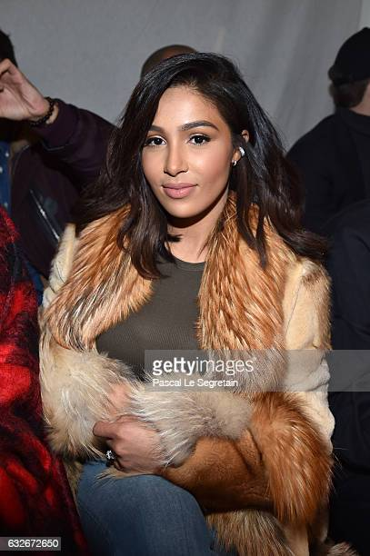 Majda Sakho attends the Jean Paul Gaultier Haute Couture Spring Summer 2017 show as part of Paris Fashion Week on January 25 2017 in Paris France