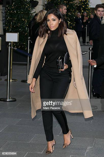 Majda Sakho is seen at the 'RITZ' hotel during the 'Chanel collection des Metiers d'Art 2016/2017' on December 6 2016 in Paris France