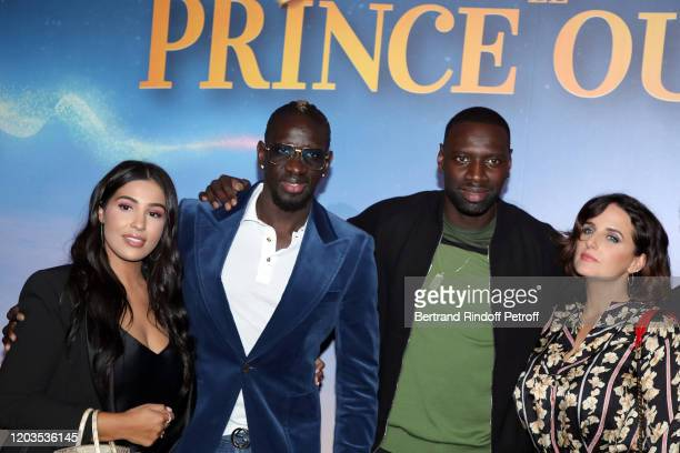 Majda Sakho Mamadou Sakho Omar Sy and Helene Sy attend Le Prince Oublie Paris Premiere at Le Grand Rex on February 02 2020 in Paris France
