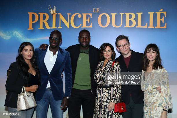 Majda Sakho Mamadou Sakho Omar Sy Helene Sy Michel Hazanavicius and Berenice Bejo attend Le Prince Oublie Paris Premiere at Le Grand Rex on February...