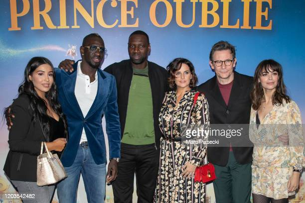 Majda Sakho Mamadou Sakho Omar Sy Helene Sy Michel Hazanavicius and Berenice Bejo attend the 'Le Prince oublie' Premiere at Le Grand Rex on February...