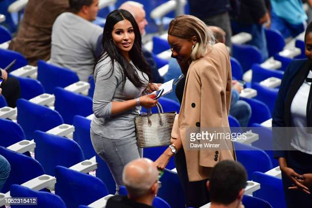 Majda Sakho wife of Mamadou Sakho of France during the Nations League match between France and Germany at Stade de France on October 16 2018 in Paris...