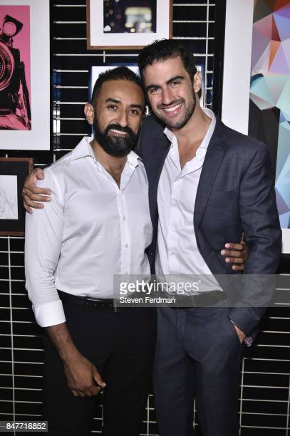 Majed Al Otaibi and Fernando Barbosa attends PMA with KANTRR Labs and Pierce Capital Entertainment host the Wrap Party of 'Tu Me Manques' Sponsored...