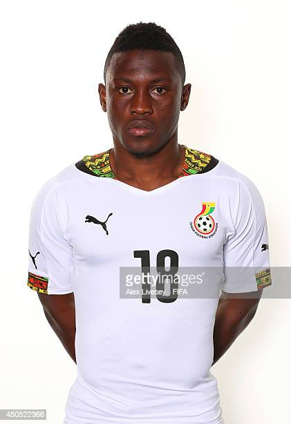 Majeed Waris of Ghana poses during the official FIFA World Cup 2014 portrait session on June 11 2014 in Maceio Brazil