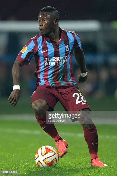 Majeed Waris of Trabzonspor AS in action during the UEFA Europa League Group L match between Trabzonspor AS and Legia Warszawa at the Hüseyin Avni...