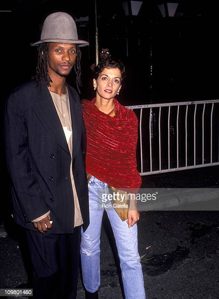 Majek Fashek and Annabella Sciorra during Blue Sky New York City Premiere Red Carpet at Alice Tully Hall Lincoln Center in New York City New York...