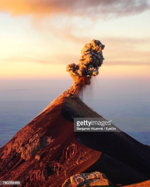 majestic active volcano - volcano stock photos and pictures
