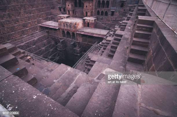 majestic aqueduct architecture - abhaneri stock photos and pictures