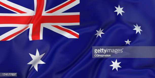 majestic australian flag - australian flag stock pictures, royalty-free photos & images