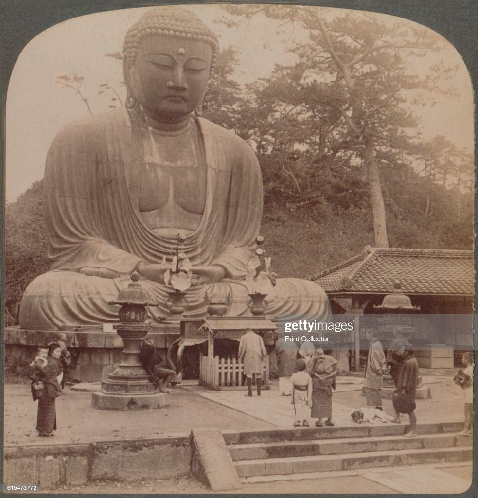 Majestic calm of the great bronze Buddha, reverenced for six centuries, Kamakura, Japan', 1904. From The Underwood Travel Library - Japan, [Underwood & Underwood, London, New York, 1904]. Artist Unknown