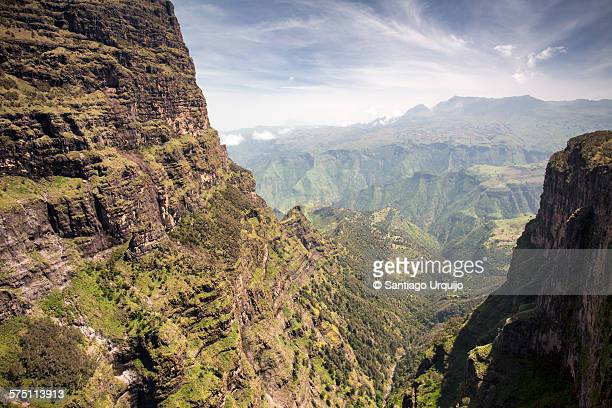 Majestic canyon in Simien Mountains