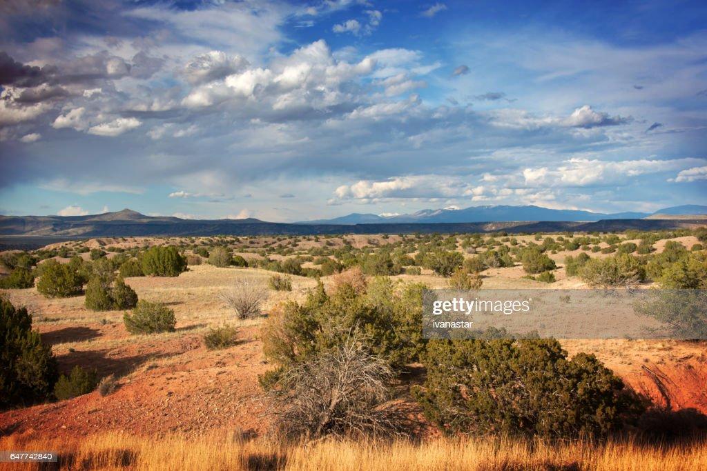 Majestic  Cloudscape over Sandia Mountains : Stock Photo